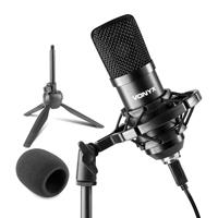 Vonyx CM300 Condenser Studio Microphone, Black