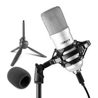 Vonyx CMS300S Condenser Studio Microphone, Silver