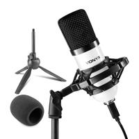 Vonyx CMS300W Condenser Studio Microphone, White