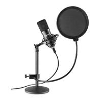 Vonyx CMS300 Condenser Studio Microphone Set, Black