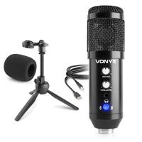 CM320B Studio USB Microphone with Echo & Desktop Stand - Black