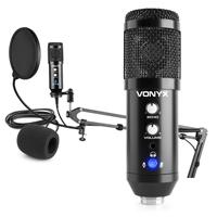 CMS320B Studio USB Microphone Set with Echo - Black
