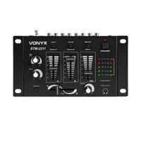 Vonyx STM-2211 4 Channel DJ Mixer with Crossfader