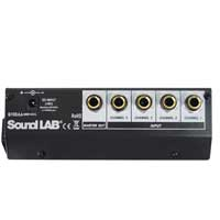 Soundlab 4 Channel Mono Microphone Mixer & 1 Patch Lead
