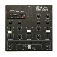 4-Channel USB MP3 In-Built Effects EQ Portable Compact DJ Deck Mixer Crossfader