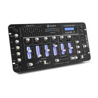 "Skytec STM-3007 6-Channel Mixer 19"" Rack Mountable Bluetooth EQ MP3 SD DJ Disco"