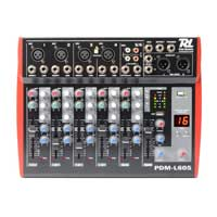 6-Channel Live Sound PA Mixer Console USB MP3 Echo Effect|Power Dynamics PDML605