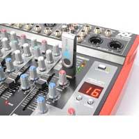 6-Channel Live Sound PA Mixer Console USB MP3 Echo Effect Power Dynamics PDML605