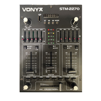 Skytec STM2270 4-Channel DJ Mixer with Bluetooth, MP3, SD & USB
