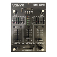 Skytec STM2270 4-Channel DJ Mixer with Bluetooth, MP3 & USB