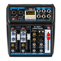 Vonyx VMM-P500 4-Channel Music Mixer with MP3 & Bluetooth