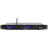 Fenton VX2USB Twin Player MP3/USB/SD/Bluetooth Rackmount Background Music System