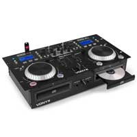 PD CDJ500 Powered DJ Mixer with Dual CD Player & Bluetooth