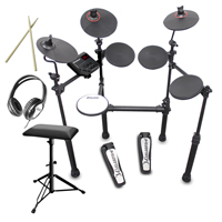 Carlsbro CSD100 R-PLUS Electronic Drum Kit 7 Piece Set with Stool & Headphones
