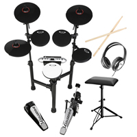 Carlsbro CSD130 R-PLUS Electric Drum Kit 8 Piece Set USB with Stool & Headphones