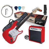Johnny Brook Electric Guitar with Amplifier, Red