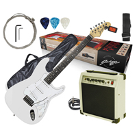 Johnny Brook Electric Guitar with Amplifier, White