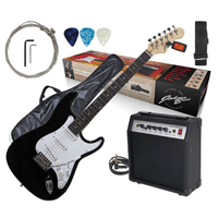 Johnny Brook Electric Guitar with Amplifier, Black