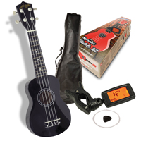 Johnny Brook Soprano Ukulele Kit - Black