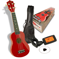 Johnny Brook Soprano Red Ukulele Kit