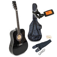 Johnny Brook Acoustic Guitar Kit, Black