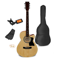 "Johnny Brook Natural 40"" Cutaway Acoustic Guitar Kit"