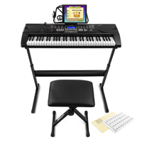 Max KB1SET Electronic Keyboard Set, Full-Size 61-Keys