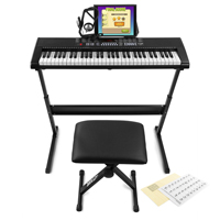Max KB4SET Electronic Keyboard Set, Full-Size 61-Keys