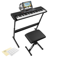 Max KB4SET Electronic Keyboard Set - Full-Size 61-Keys