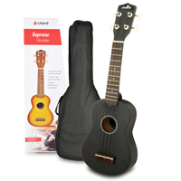 Chord Black Ukulele with Carry Bag