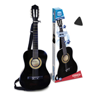 Bontempi Kids Acoustic Black Guitar Six String with Strap