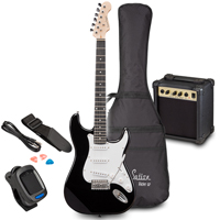 Soundsation RIDER GP Black Electric Guitar Set
