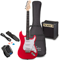Soundsation RIDER GP Candy Red Electric Guitar Set