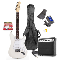 Max GIGKIT White Electric Guitar & Amp Package