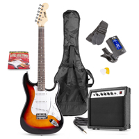 Max GIGKIT Sunburst Electric Guitar & Amp Package