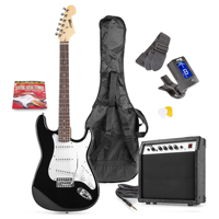 Max GIGKIT Black Electric Guitar & Amp Package