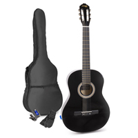 Max SOLOART Classic Black Acoustic Guitar Package
