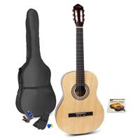 Max SOLOART Classic Natural Acoustic Guitar Package