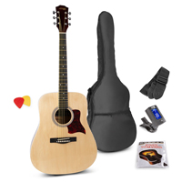 Max SOLOJAM Natural Acoustic Guitar Package