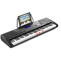 Electronic Keyboard for Learner with 61 Lit Keys & LCD Display - MAX KB9