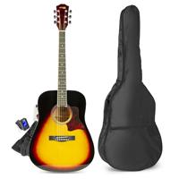 Sunburst Beginner Acoustic Guitar Package - Max SoloJam Western