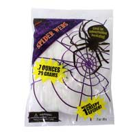 White Stretchy Spiders Cob Web Party Decoration