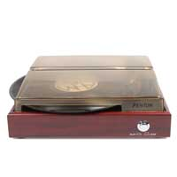 Fenton 102.103 RP110 Record Player Red Wood
