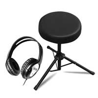 Carlsbro CSS3 Drum Stool and DCN2 Closed-Ear Headphones