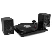 Fenton 102.136 RP160B Black Bluetooth Record Player with Speakers