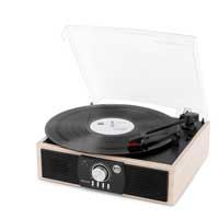 Fenton 102.141 RP175LW Lightwood Bluetooth Record Player Built In Speakers