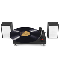 Fenton RP155B Black Record Player with Speakers