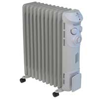 Prem-i-air Elite EH1369 2.5kW 11 Fin Oil Filled Radiator with Timer Grey