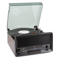 Bluetooth Record Player System with CD Player - Fenton RP135W