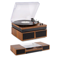 Fenton RP165B Lightwood Record Player with Speakers & Bluetooth